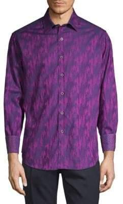 Robert Graham Grand Noble Long-Sleeve Button-Down Shirt