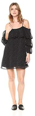 Lucca Couture Women's Valerie Ruffle Overlay 3-Tier SLV Dress
