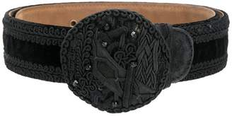 Moschino PRE-OWNED embroidered belt