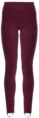 Balenciaga High Rise Stirrup Leggings - Womens - Burgundy