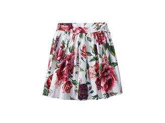 Dolce & Gabbana Poplin Peonie Skirt (Toddler/Little Kids)