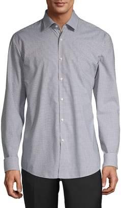 HUGO Slim-Fit Plaid-Print Shirt