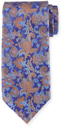 Stefano Ricci Large Paisley Silk Tie