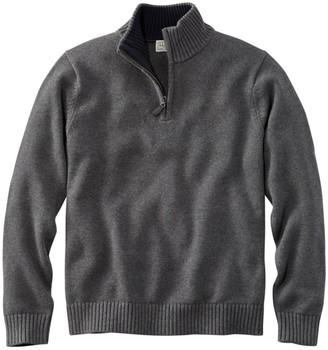 L.L. Bean L.L.Bean Men's Double L Cotton Sweater, Quarter-Zip