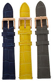 Croco Bronze Embossed Leather Watch Straps by Bronzo Italia