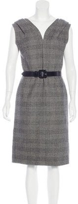 Christian Dior Plaid Wool Dress