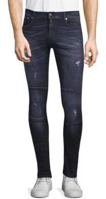 Belstaff Distressed Straight Fit Jeans