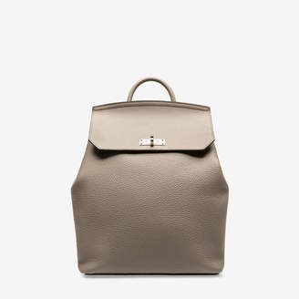 Bally Bahira Grey, Women's grained calf leather backpack in wheat