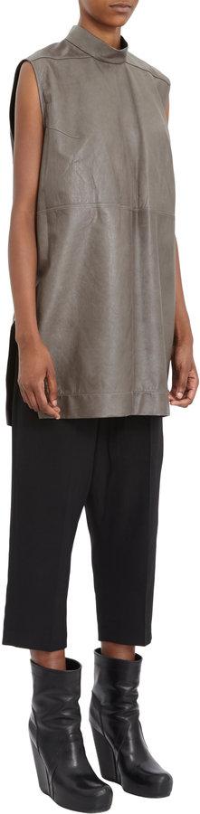 Rick Owens Sleeveless Lambskin Tunic