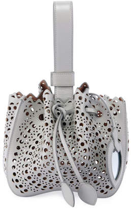 Alaia Rose Marie Mini Lux Bucket Bag