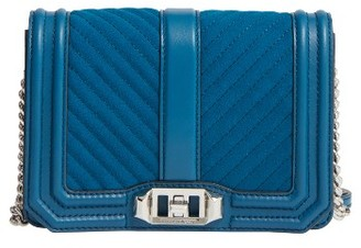 Rebecca Minkoff Small Love Chevron Quilted Leather Crossbody Bag - Blue $195 thestylecure.com