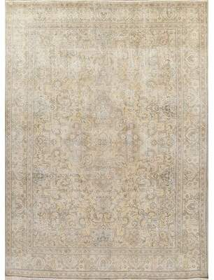"""Rugsource Persian Geometric Antique Wool Area Rug Hanmade Oriental Distressed Carpet 12'11""""X9'6"""" Rugsource"""