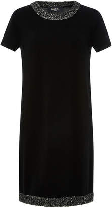 Paule Ka Wool-Blend Short Sleeve Dress