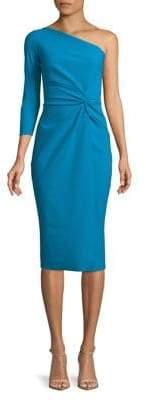 Chiara Boni One-Shoulder Knotted Bodycon Dress