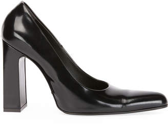 Balenciaga Leather Block-Heel Pumps