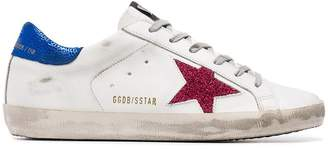 Golden Goose white Superstar leather low-top sneakers