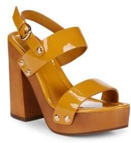 Joie Dea Block Heel Leather Sandals