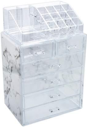 Sorbus Cosmetic & Makeup Storage Case Set - Gray Marble