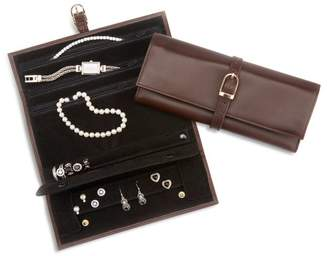 Leather Travel Jewelry Roll
