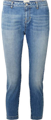 Nili Lotan Tel Aviv Cropped Mid-rise Slim-leg Jeans - Mid denim