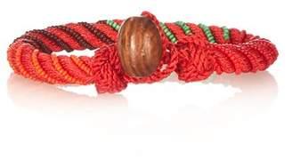 Aurelie Bidermann Maya Bead Embellished Bracelet - Womens - Red Multi