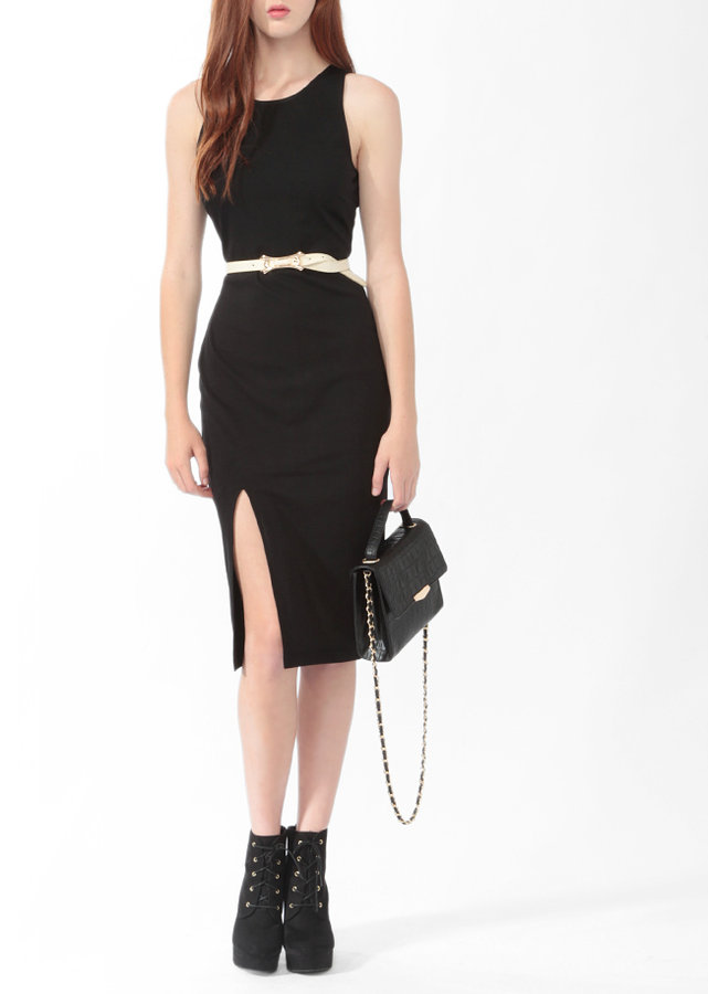 Forever 21 Slit Midi-Length Dress