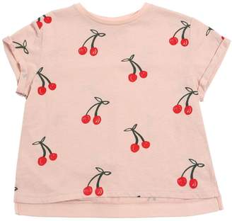 Stella McCartney Cherry Printed Cotton Jersey T-Shirt