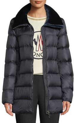 Moncler Torcol Puffer Coat w/ Velvet Collar
