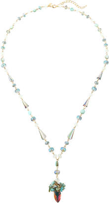 Emily and Ashley Greenbeads By Long Simulated Crystal Y-Drop Necklace, Mint