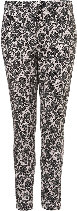 Topshop Lace Shadow Skinny Trousers