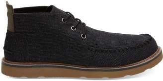 Black Melange Woven Men's Chukka Boots