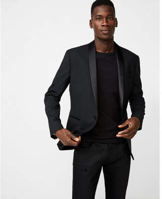 Express slim black shawl collar tuxedo jacket