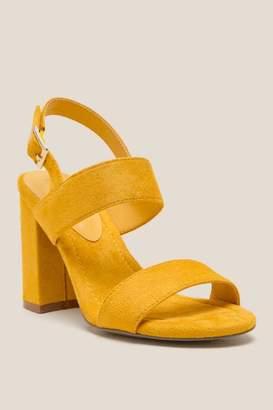 Amaya Double Strap Block Heel - Marigold
