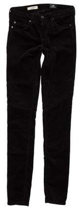 Adriano Goldschmied Low-Rise Velvet Jeans