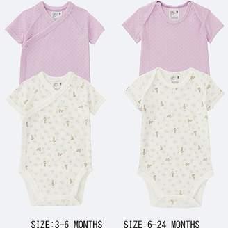 Uniqlo Newborn Crewneck Short-sleeve Bodysuit (set Of 2)