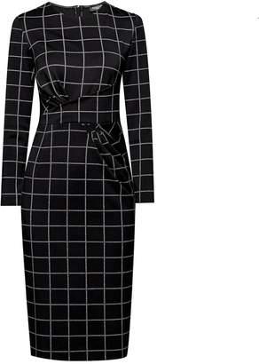Rumour London - Rebecca Black Check Dress with Waistline Drapes