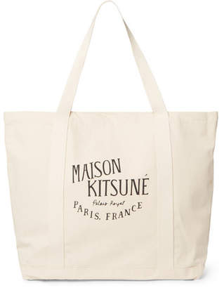 MAISON KITSUNÉ Printed Cotton-Canvas Tote Bag