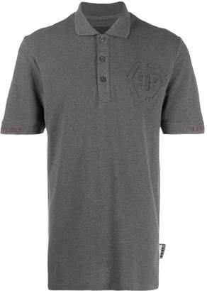 Philipp Plein logo-embossed polo shirt