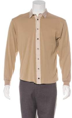 Burberry Knit Button-Up Shirt