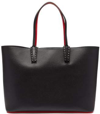 Christian Louboutin Cabata Spike Embellished Leather Tote - Womens - Black