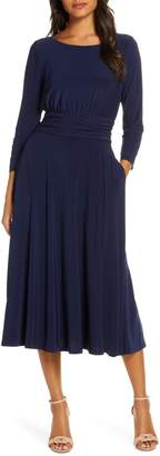 Julia Jordan Back Tie Midi Dress