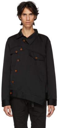 Comme des Garcons Black Asymmetric Satin Shirt