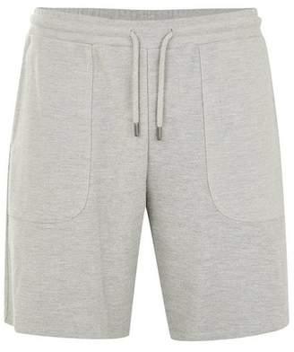 Topman Mens Grey Gray Twill Jersey Shorts
