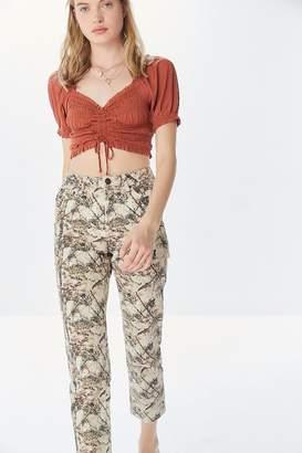 BDG High-Rise Slim Straight Jean – Camouflage