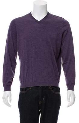 Brunello Cucinelli Woven V-Neck Sweater