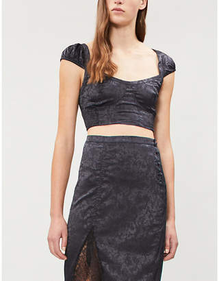 Free People Olympia satin-jacquard set