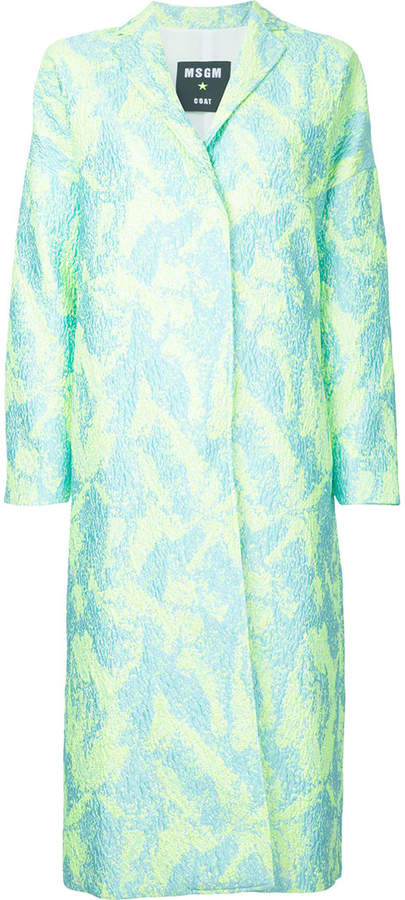 MSGM textured midi coat