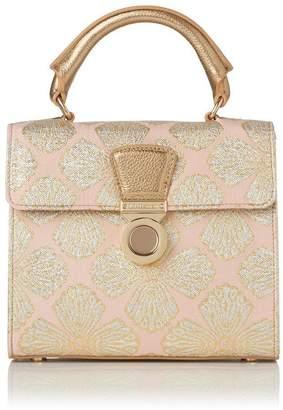 LK Bennett Amelia Pink Jacquard Shoulder Bag