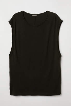 H&M Raw-edge Tank Top - Black