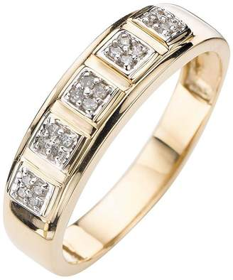 DAY Birger et Mikkelsen Love DIAMOND 9 Carat Gold 15 Point Diamond Set Band Ring